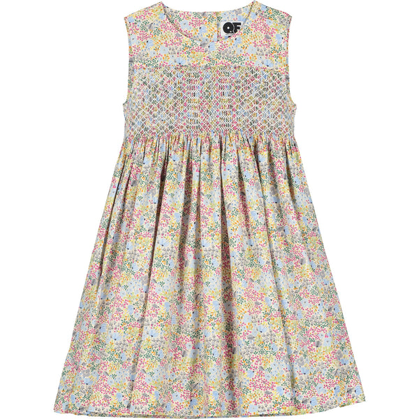 hand smocked girls dress front
