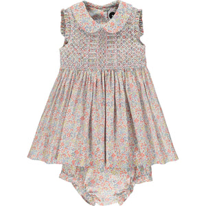 hand smocked baby dress front