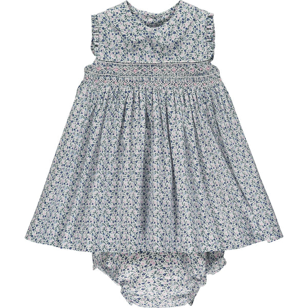 ditzy floral baby dress