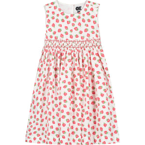 strawberry print girls dress front