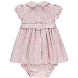 classic baby dress with smocking back