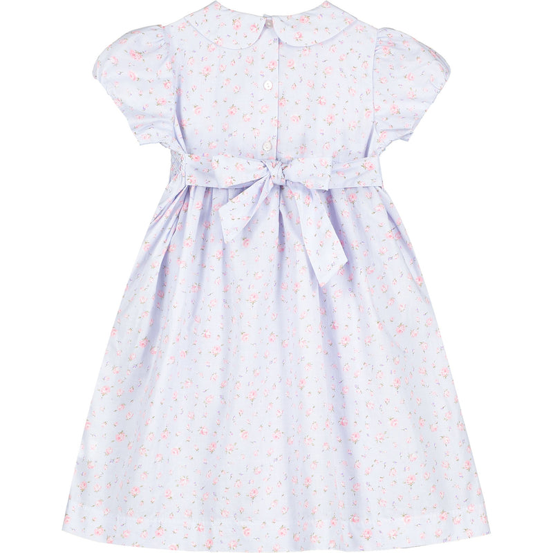 girls classic hand-smocked dress back