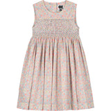 Liberty print smocked girls dress front