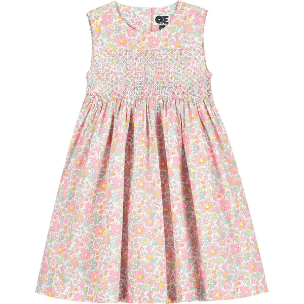 Liberty hand-smocked girls dress front