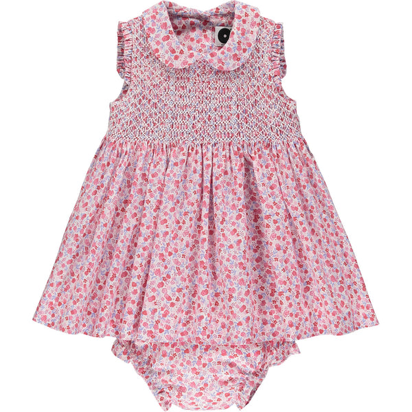 classic baby dress with smocking front