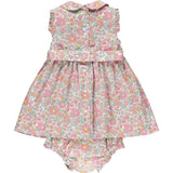 Liberty smocked baby dress back