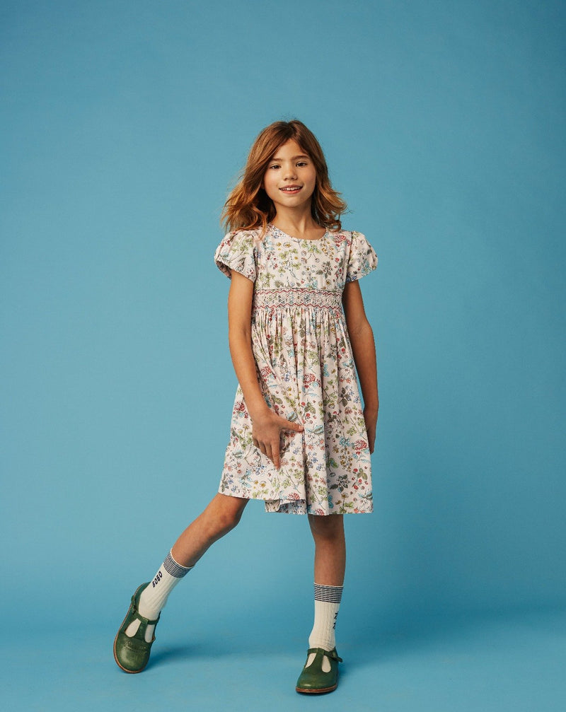 girl in hand smocked dress