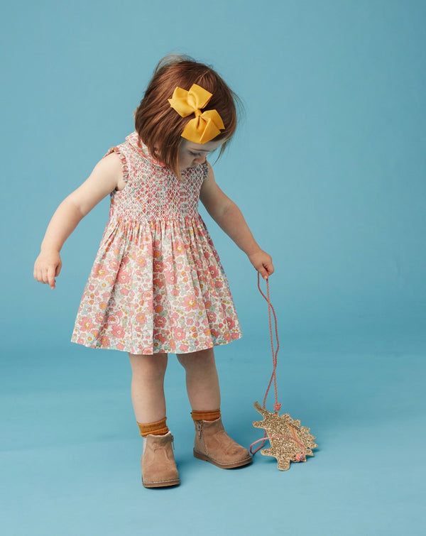 little girl in Liberty dress