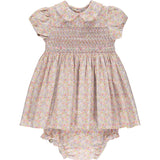 hand-smocked dress with bloomers