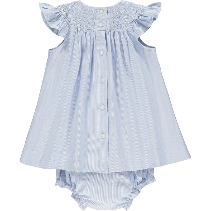 baby smocked dress back