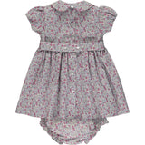 hand smocked baby dress back