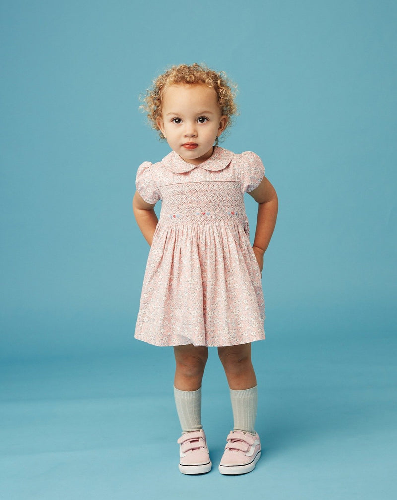 toddler  girl in classic dress