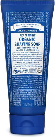 Dr. Bronner's Peppermint Organic Shaving Soap | New London Pharmacy