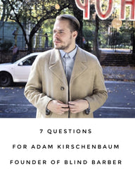 *7 Questions* with @newlondonnyc - we have Adam Kirschenbaum Founder of Blind Barber 🙌🏻