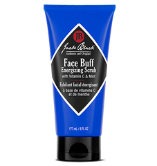 Description Of Jack Black Face Buff Energizing Scrub:  A pre-shave cleanser and facial scrub in one that gently exfoliates for an easier, closer shave. Eco-friendly, biodegradable scrubbing particles help to unclog pores, prevent ingrown hairs, and minimize shaving irritation. Removes oil, dirt, and dead skin cells to leave a clear path for your blade.