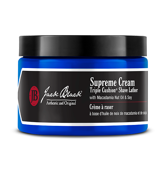 Jack Black Supreme Cream Triple Cushion® Shave Lather with Macadamia Nut Oil & Soy