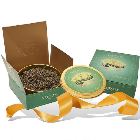 Vahdam Himalayan Green Gift Set- 1 Tin Caddy