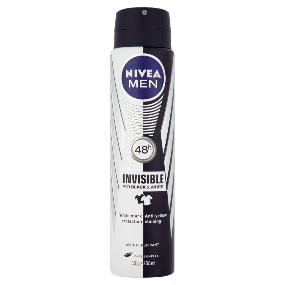 Nivea Men 48h Invisible for Black & White Anti-Perspirant, Deodorants - New London Pharmacy