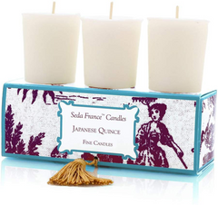 Seda France Japanese Quince - Set Of Three Candles