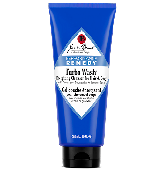 Jack Black Turbo Wash Energizing Cleanser for Hair & Body with Rosemary, Eucalyptus & Juniper Berry