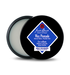 Description Of Jack Black Wax Pomade:  This pomade offers pliable hold and a natural-shine finish. Use to polish and control frizz, or to smooth hair into a desired style. The lightweight formula is perfect for taming and conditioning beard and mustache hairs.
