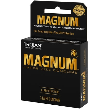 Trojan Magnum Lubricated Latex Condoms Large