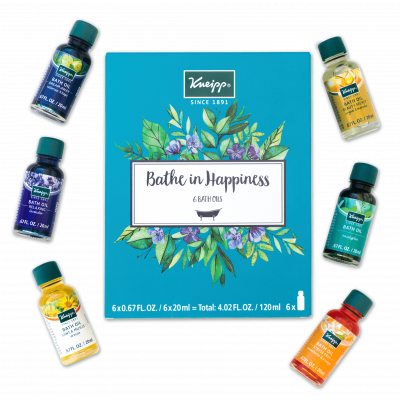 Kneipp Bathe in Happiness 6 Piece Bath Oil Gift Set