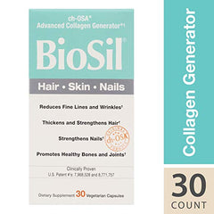 BioSil by Natural Factors Hair Skin Nails 30 Capsules | New London Pharmacy