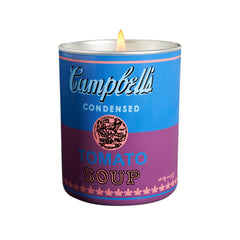 "Andy Warhol ""CAMPBELL BLUE/PURPLE"" Candle 