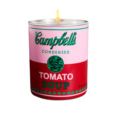 "Andy Warhol ""CAMPBELL PINK/RED"" Candle"