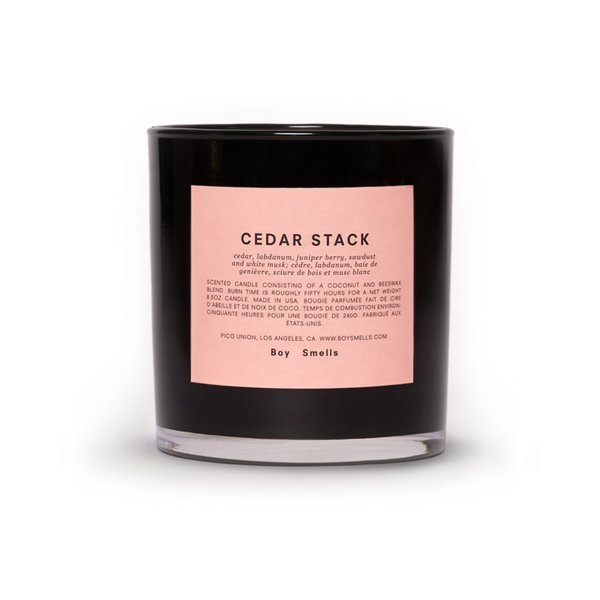 Boy Smells Cedar Stack Scented Candle