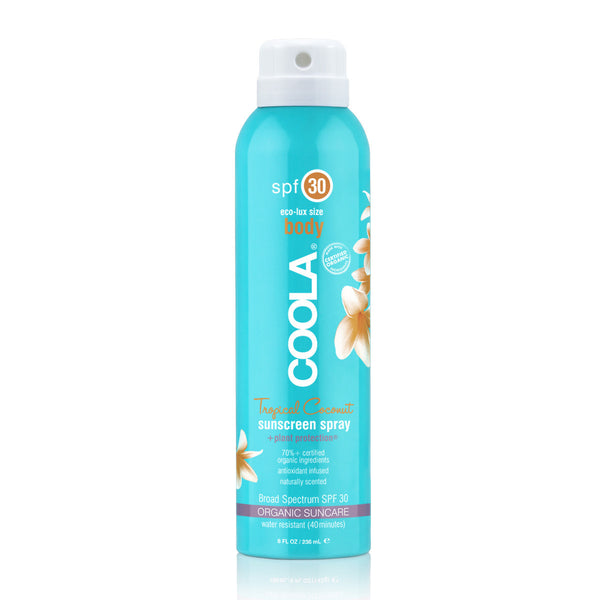 COOLA ECO-LUX 8OZ BODY SPF 30 TROPICAL COCONUT SUNSCREEN SPRAY