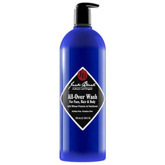 Jack Black All-Over Wash for Face, Hair & Body with Jojoba Protein & Panthenol