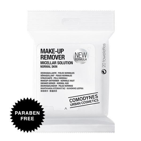 Comodynes Make-Up Remover Normal Skin Face & Eyes Towelettes