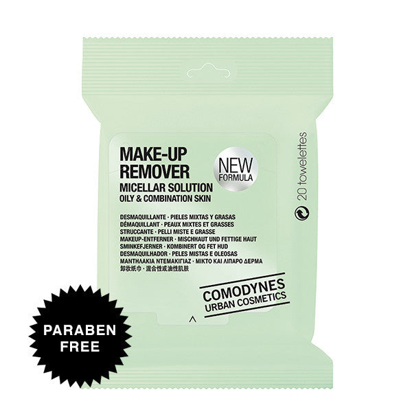 Comodynes Make-Up Remover Micellar Solution Oily & Combination Skin Towelettes, Facial Cleanser - New London Pharmacy