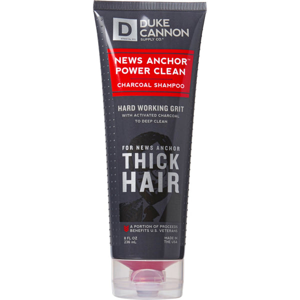 Duke Cannon's Hard Working Grit Charcoal Shampoo