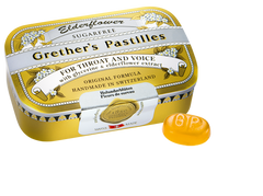 Grether's Pastilles for Throat and Voice - Sugarfree - Elderflower