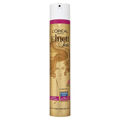 L'oreal Elnett Satin Very Volume Supreme Hold Hairspray with Pro Keratin 400 Ml     About the product  New product hairspray From L'Oreal Paris Stars and professionals have used this hairspray for over 40 years. Developed by L'Oreal Laboratories, this hairspray ensures long-lasting hold without feeling stiff. Hair Type: All Hair Types