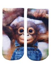 Living Royal Socks Monkeying Around Ankle Socks