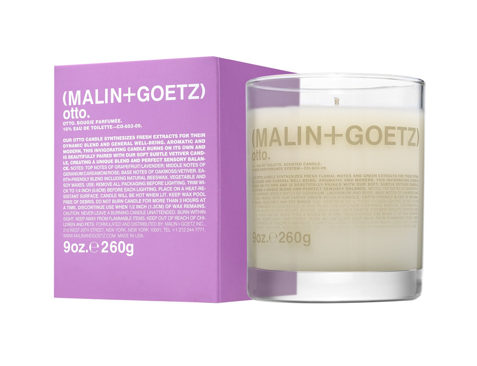 (MALIN+GOETZ) otto candle., Fragrance - New London Pharmacy