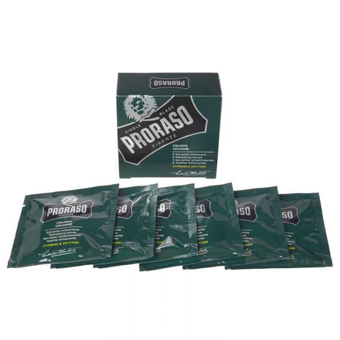 Proraso Colonia Cypress & Vetyver 6 Refreshing Towelettes