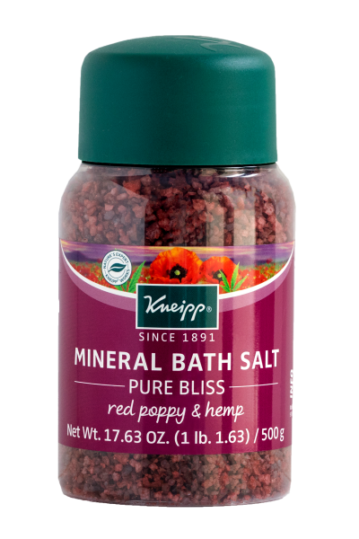 Kneipp Pure Bliss Mineral Bath Salt with Red Poppy & Hemp