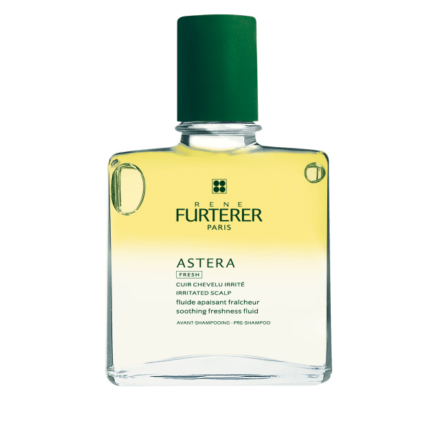René Furterer Astera Fresh Soothing Freshness Fluid is a lavish massage oil especially formulated to care for a sensitive or weakened scalp. Made from 99% natural ingredients to prevent and treat signs of itch, redness, and overall discomfort.