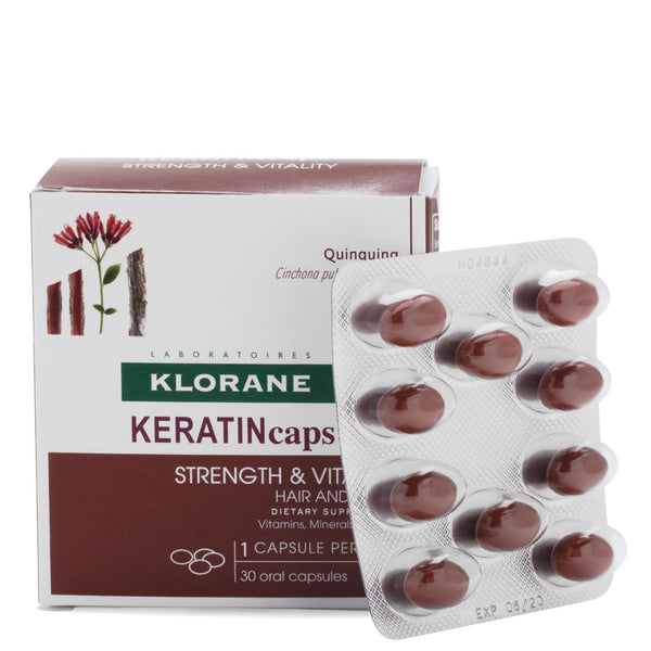 Klorane Keratin Caps Hair and Nails Dietary Supplement