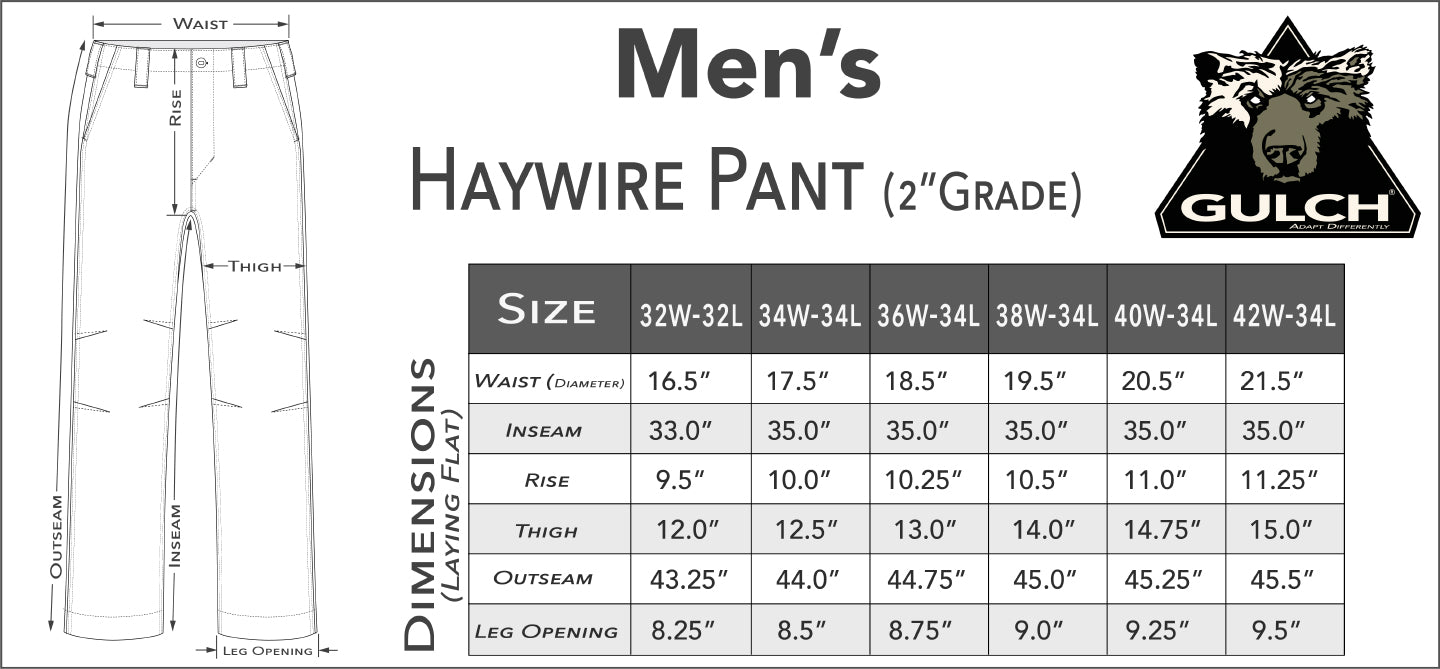 Men's Haywire Pant Fit Guide