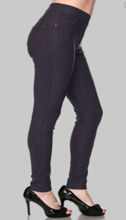 usa cheap sale favorable price size 40 Plus Size Pull on Jeans Leggings (Black/Navy)