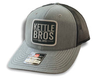 Kettle Bros. Est. 2015 Hat // Light Grey & Black