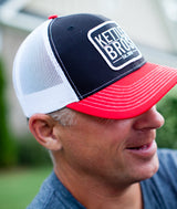 Kettle Bros. Est. 2015 Hat // Red & Black