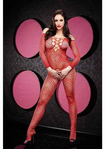 VIP Longsleeve Crotchless Bodystocking