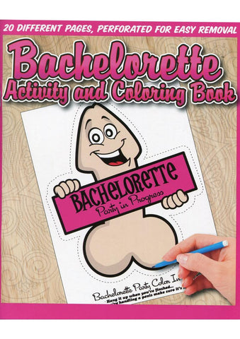 Bachelorette Activity Coloring Boook